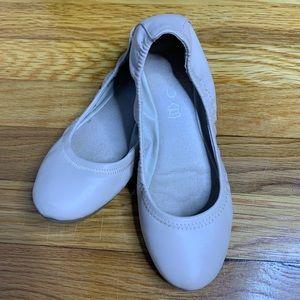 Aldo Nude Scrunch Elastic Ballet Flat